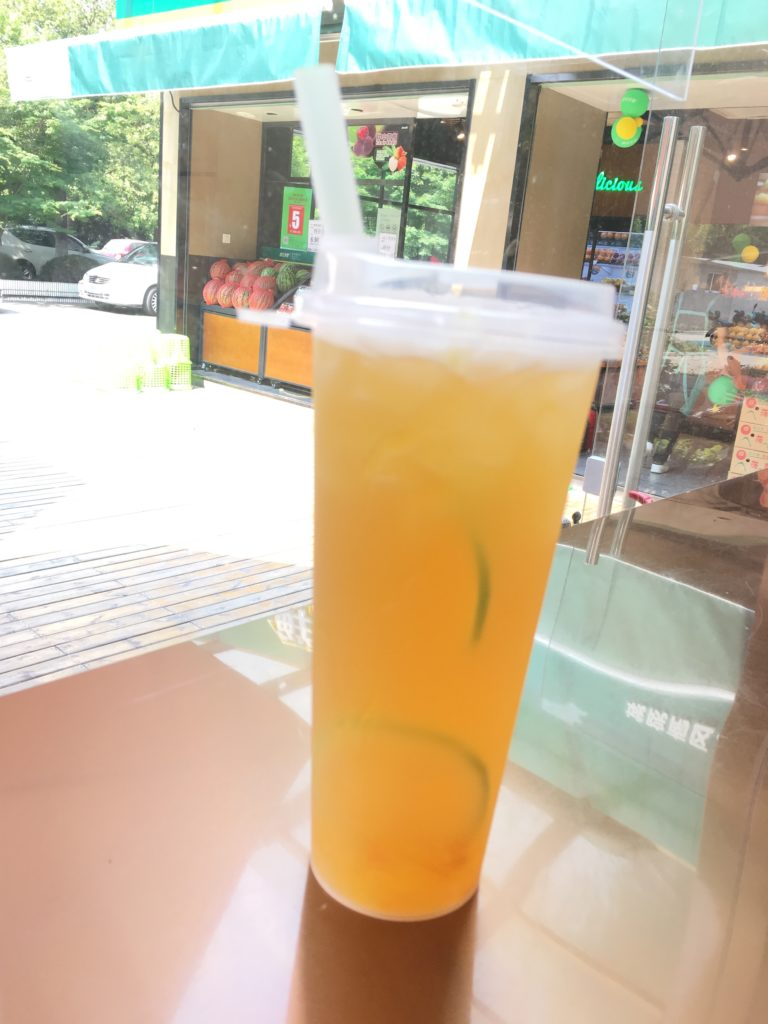 A refreshing drink to cool you down during the hot Hangzhou summer