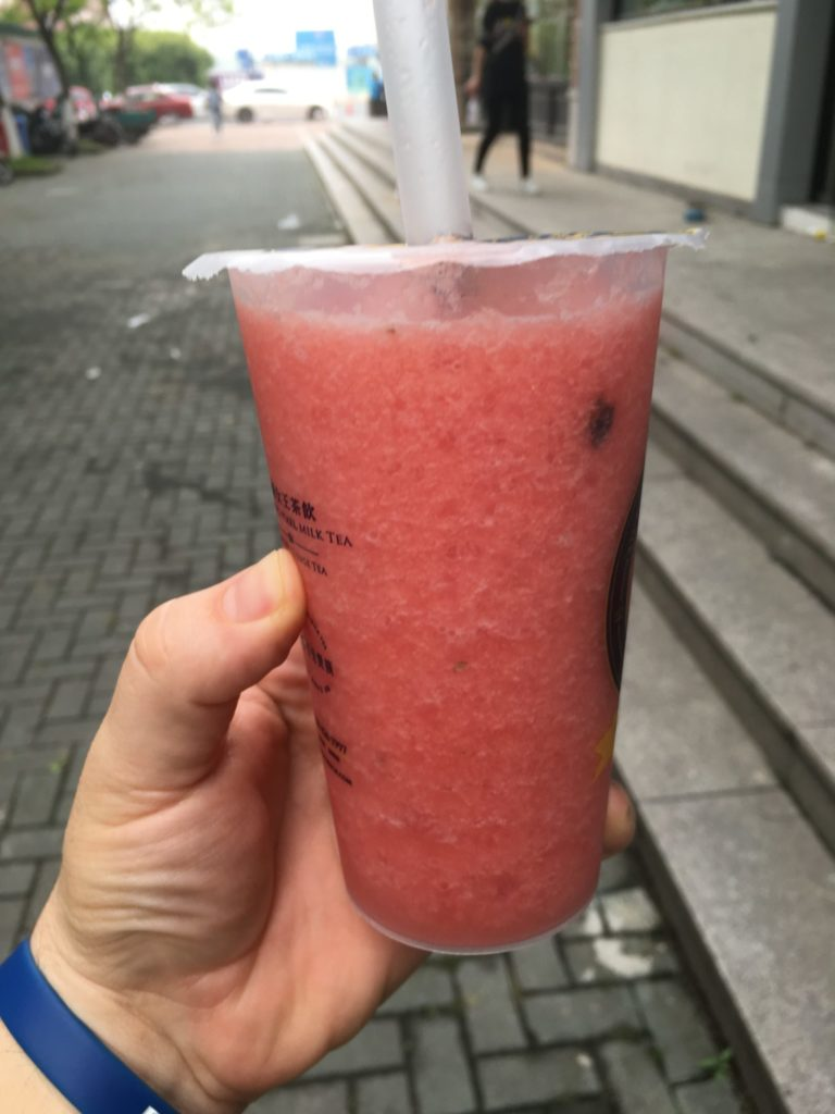 A refreshing watermelon drink to cool you down during the hot Hangzhou summer.